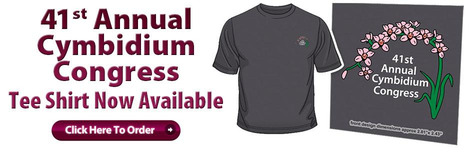 41st Cymbidium Congress Tee Shirt